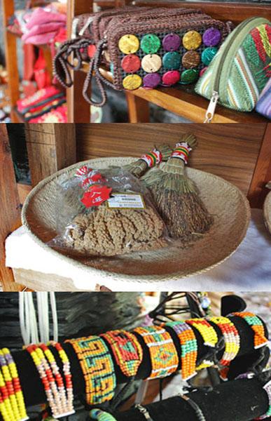 屋內空間特別規劃,展售著串珠、皮雕製品等原民手工藝。(圖/馬千惠 攝)