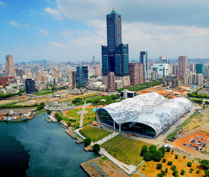 「亞洲新灣區」再造高雄市港新一波發展的契機。(圖∕高雄市政府工務局 提供)