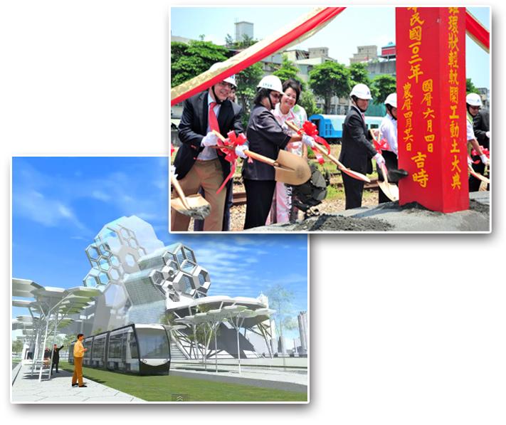 環狀輕軌捷運水岸段將串起「亞洲新灣區」各項重大建設。(圖∕鮑忠暉 攝‧高雄市政府工務局 提供)