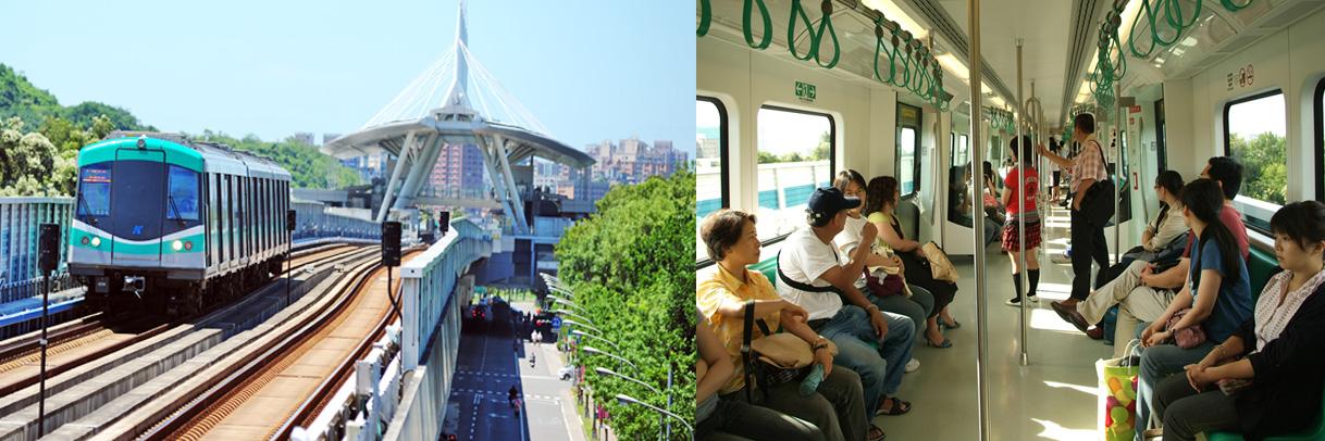 搭乘高雄捷運遊高雄輕鬆又環保。(圖∕鮑忠暉 攝)
