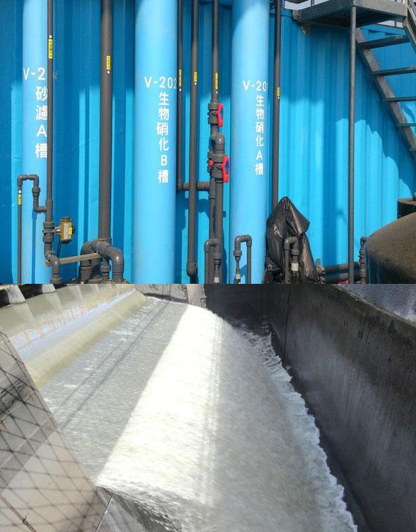 市府在鳳山溪設置污水處理廠進行水質淨化。(圖∕高雄市政府水利局 提供)