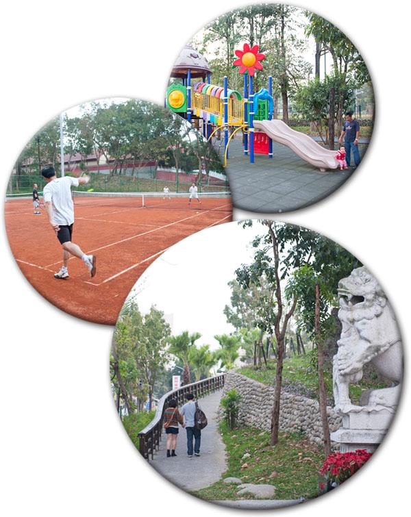 公園整體景觀改善後,提供民眾舒適的休閒綠地空間。(圖∕李士豪 攝)