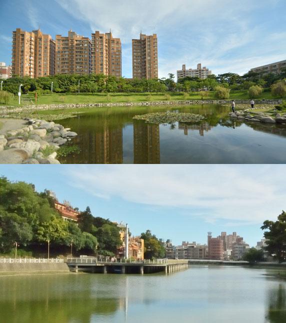本和里滯洪池、金獅湖兼具防洪蓄水與休憩功能。(圖/李士豪 攝)