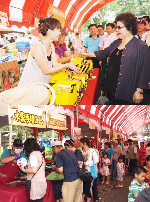 大崗山蜂蜜文化節結合產業、文化、生態等多元面向,吸引許多民眾參與。(圖∕鮑忠暉 攝、田寮區農會 提供)