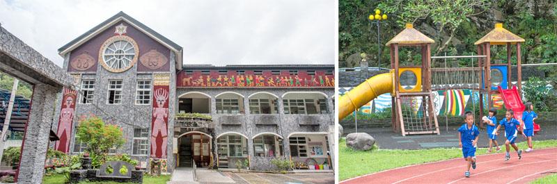 多納國小新建校舍融合在地特色,讓孩童擁有安全學習空間。(圖∕李士豪 攝)