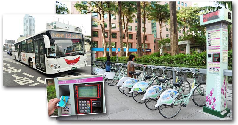 民眾持一卡通,即可搭乘捷運、市區公車、租用公共腳踏車,使用大眾交通運輸工具更為便利。(圖∕鮑忠暉、李士豪 攝)