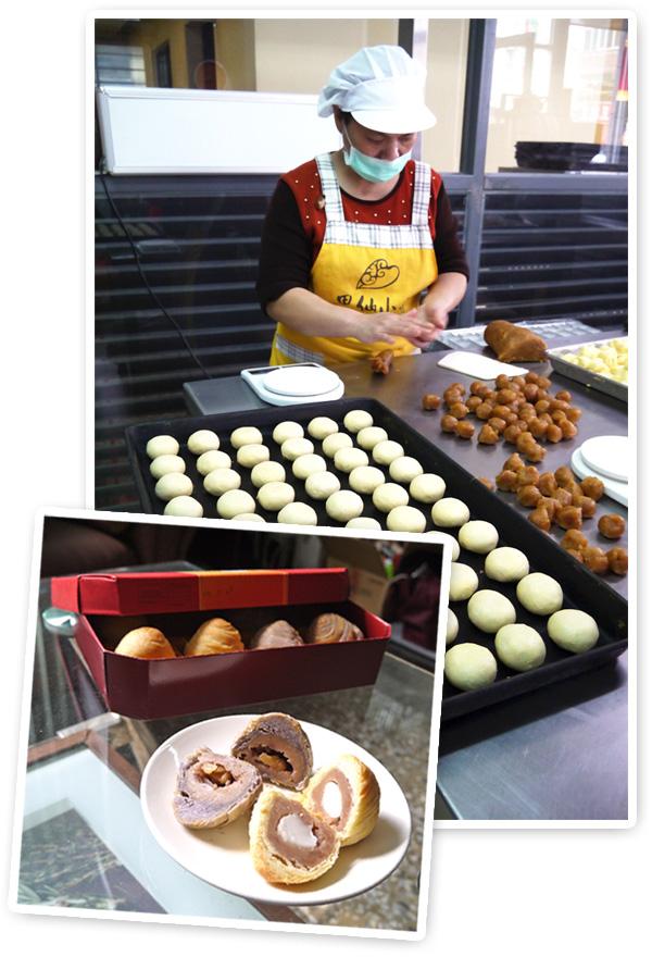 芋頭四兄弟的芋餅堅持使用百分百純芋泥製作,要讓消費者吃到真實健康古早味。(圖∕李昀諭 攝)