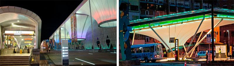 大東文化藝術中心鄰近捷運大東站與鳳山公車轉運站,民眾參與藝文活動更為方便。(圖∕李士豪 攝)