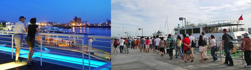 吹海風、看海景,搭乘「新光碼頭-旗津輪渡站」遊港航線暢遊旗津,都是能在新光公園享有的樂趣。(圖∕李昀諭 攝)