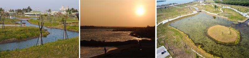 林園區公12海洋濕地公園風景秀麗,成為觀夕的新熱門地點。(圖∕高雄市政府工務局養護工程處 提供、李昀諭 攝)
