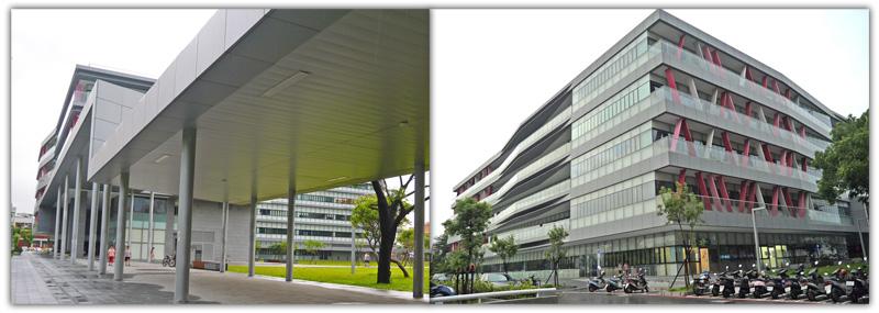 鳳山新行政中心獲得五項綠建築標章,在再生能源使用及綠化節能上表現優異。(圖∕李昀諭 攝)