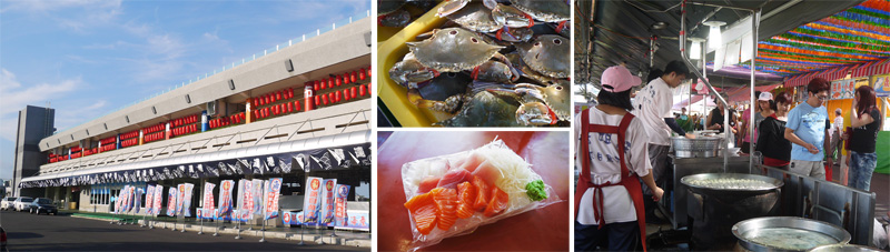 興達港漁夫市集提供代客料理服務,讓遊客可現買現煮現吃。(圖∕李昀諭 攝)