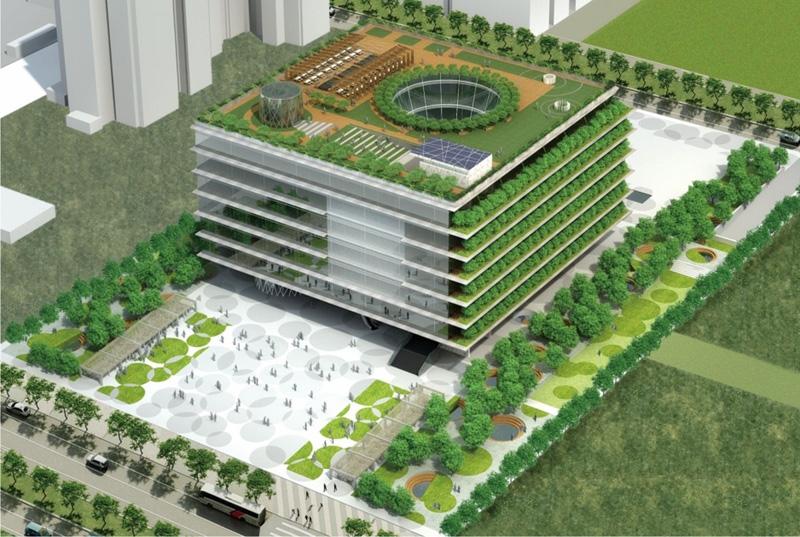 位於亞洲新灣區的高雄市立圖書總館將於今年11月完工啟用,成為高雄的文化新地標。(圖∕高雄市新圖書總館 提供)
