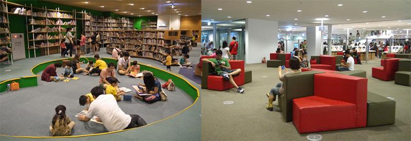 高雄市新圖書總館可讓市民吸收知識、休憩思考。(圖∕李昀諭 攝)