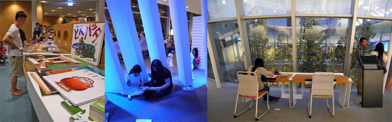 市民與新圖書總館的互動,為各個空間增添溫度與故事。(圖∕李昀諭 攝)