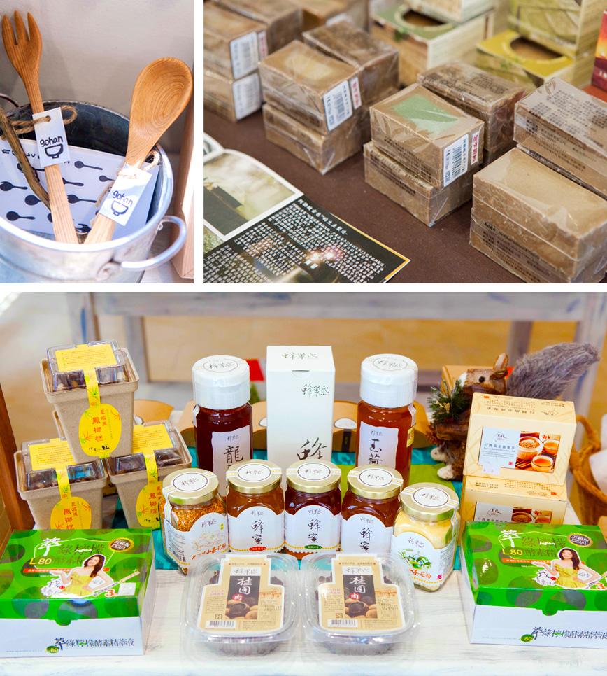 「松鼠禾作舍」販售來自各地有機農產品與手工藝品。(圖∕高志宏 攝)
