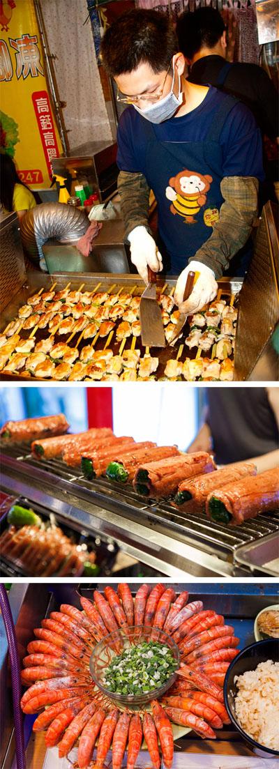 高雄夜市美食兼具傳統與創意口味,可以滿足每一個人的味蕾。(圖∕高志宏 攝˙張簡英豪 攝)