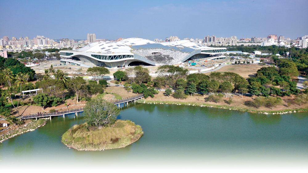 鳥瞰衛武營藝術文化中心 Aerial view of Wei Wu Ying Center for the Arts