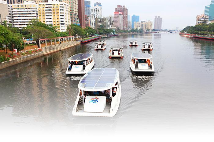 太陽能愛之船 Kaohsiung's solar powered Boats