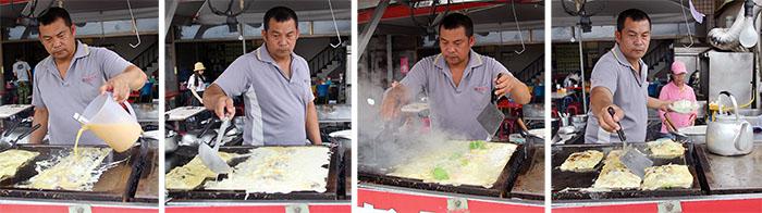 方形蚵仔煎美味上桌 Square shaped omelet