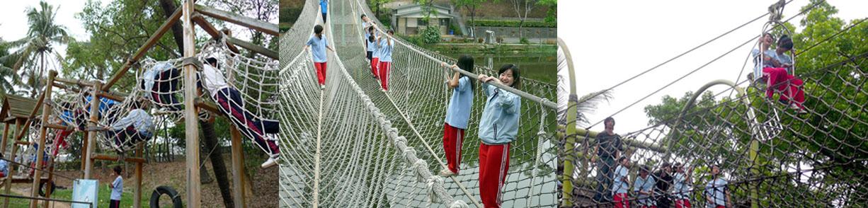 挑戰體力與膽識的救國團澄清湖青年活動中心體能訓練場,深受青少年青睞。(圖/黃揚盛 提供)