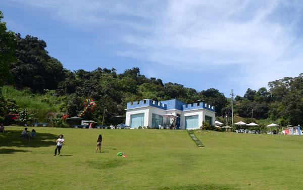 《愛上布諾閣》有大片的漂亮草皮,提供大家翻滾跑跳。(圖/阿宏 提供)
