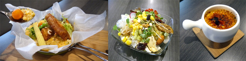 The F勇氣廚房料理有許多中西合璧的創意料理,口感豐富。(圖∕李昀諭 攝)