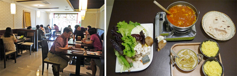 讓人吃到美味也吃到健康的餐點,每至用餐時間便吸引諸多人潮。(圖∕李昀諭 攝)
